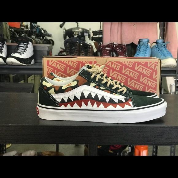 Custom Made Bape Shark Vans